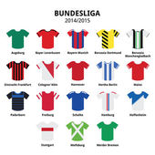 Bundesliga jerseys 2014 - 2015,German football league icons — Stock Vector