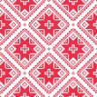 Seamless Ukrainian, Slavic folk art red embroidery pattern — Stock Vector #51160169