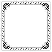 Celtic frame, border pattern - vector — Stock Vector