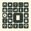 Application icons for smartphone and web — Stock Photo