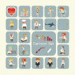 Set of cartoon characters — Foto de Stock