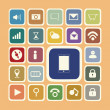 Stock Photo: Application icons for smartphone and web