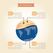 Global warming concept infographics — Stock Photo