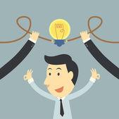Businessman spark idea up — Stock Photo