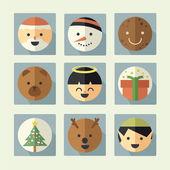 Natal ícone conjunto — Foto Stock