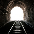 Light at end of railroad tunnel — Stock Photo #40388299