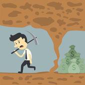 бизнесмен терпит неудачу — Cтоковый вектор