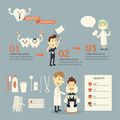 Dentish infographics — Stock Vector