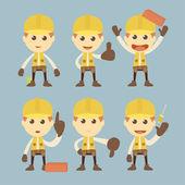 Construction Worker — Stock Vector