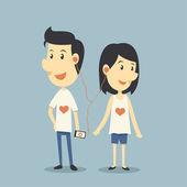 Happy couple in love — Stock Vector