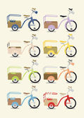 Bicycle set — Stockvector