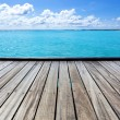 Empty sea pier on a tropical island — Stock Photo #30500933