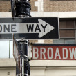 Broadway street sign in NOHO — Stock Photo