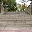 Staircase to the Bethesda Terrace, Central Park, New York - Stock Photo