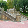 Ornate staircase at the Bethesda Terrace, Central Park, New York — Stock Photo