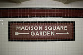 The Madison Square Garden Subway Station, NYC — Stock Photo