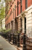 Row of apartments in Greenwich Village, New York — Stock Photo