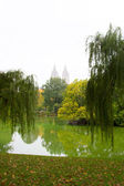 Sjön central park, new york — Stockfoto