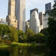 Central Park Lake, New York — Stock Photo