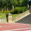 Ornate staircase at the Bethesda Terrace, Central Park, New York - Stock Photo