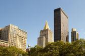 Skyline over Madison Square Park, New York — Stock Photo