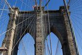 бруклинский мост, нью-йорк — Стоковое фото