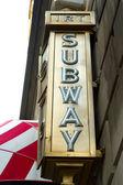 ニューヨーク地下鉄サイン — ストック写真