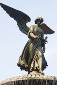 Bethesda Fountain Angel, Central Park, New York — Stock Photo