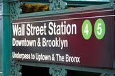 Wall Street Subway Station, New York — Stock Photo
