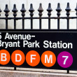 Fifth Avenue and Bryant Park Station, New York - Stock Photo