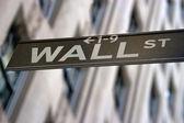 Wall Street Sign, New York — Stock Photo