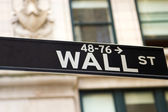 Wall Street Sign, New York — Stock Photo
