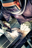 Aluminum welding — Stock Photo