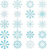 Snoeflakes ornaments — Stock Vector