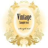 Vintage label, vektor-illustration — Stockvektor