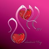 Valentines day background (eps10) — Stock Vector