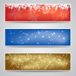 Christmas Banners Set — Stock Vector