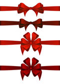 Red Gift Ribbons — Stock Vector