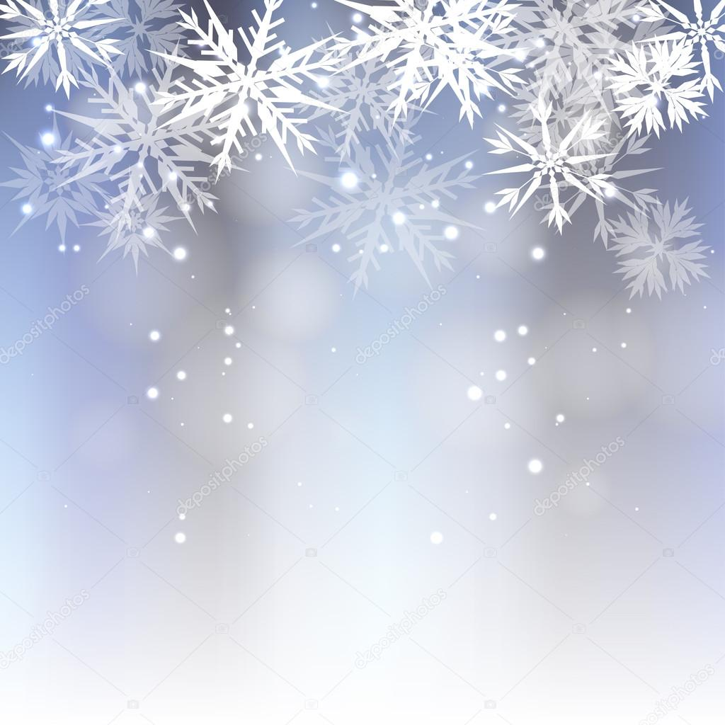 Christmas Background with snowflakes  Stock Vector #14855775