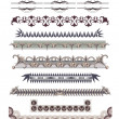 Set of Vintage Borders - Stock Vector