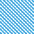 Stock Vector: Blue Gingham