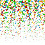 Confetti Background — Stock Vector