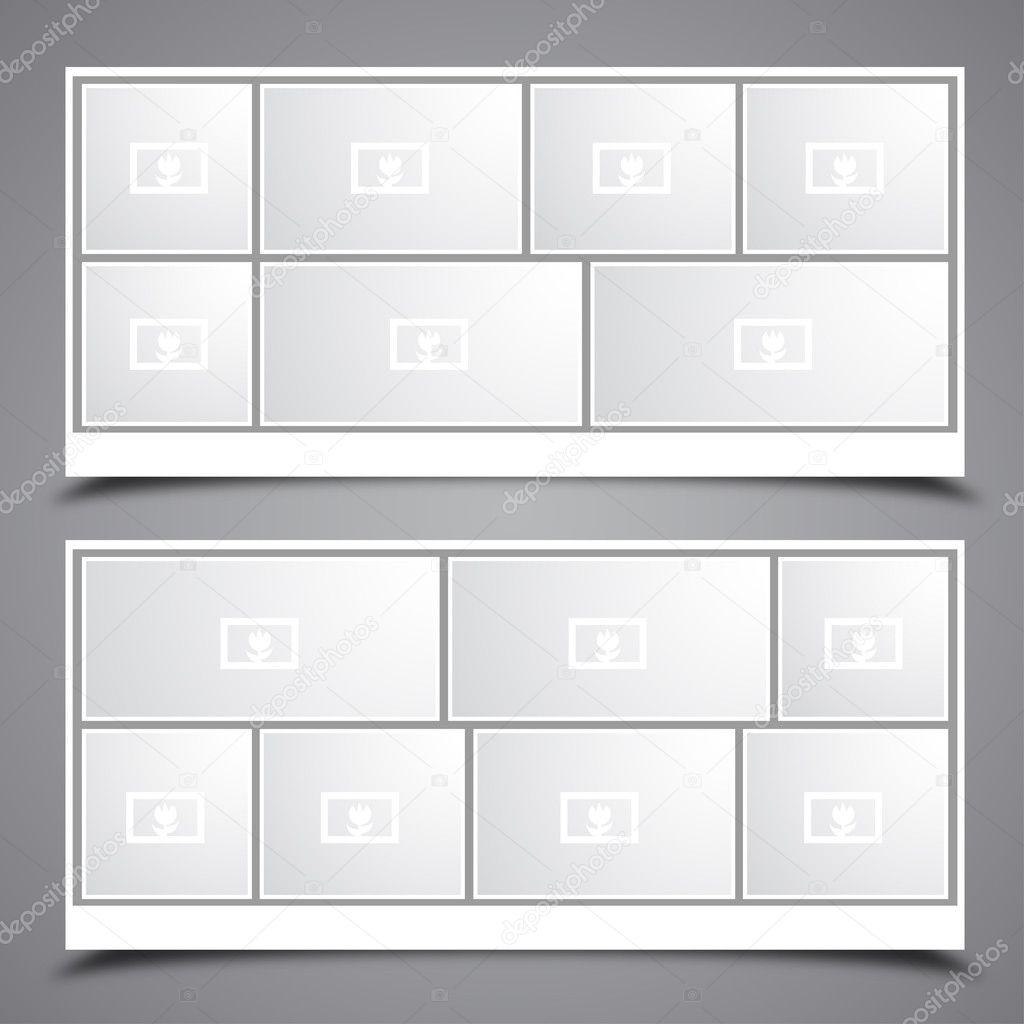 Frame Collage Vector Photo Collage Frames — Vector