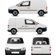 white commercial vehicle mockup — Stock Vector #22981328