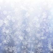Fond de flocons de neige de noël — Vecteur