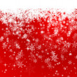 Illustration of Red Snowflake Background — Stock Vector