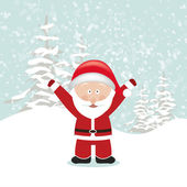 Santa Claus with Hands Up — Vector de stock