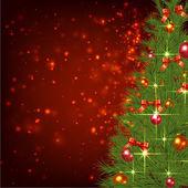 Christmas Fir Background — Stock Vector