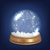 Illustration of Snow globe — Stock Vector