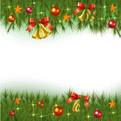Christmas Fir Background — Stock Vector